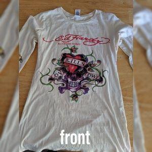 Ed Hardy 'Love Kills Slowly' Long Sleeve Shirt